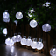 thumbnail 7 - 21FT-Outdoor-String-Lights-30-LED-Solar-Bulb-Patio-Party-Yard-Garden-Wedding-Lot