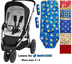 buggy liner fit for maxi cosi mura plus 3 4 ebay. Black Bedroom Furniture Sets. Home Design Ideas