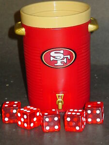 NFL-San-Francisco-49ers-Dice-Cup-amp-Dice-NEW