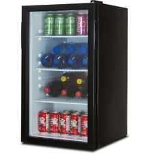 beverage wine cooler chiller rack mini refrigerator led light beer soda black - Beer Merchandiser