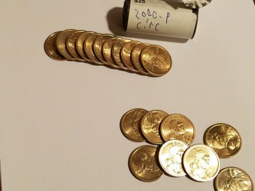 2 Rolls $50 2000-P /& D Good Circulated Sacagawea Native American 1 Dollar Coins