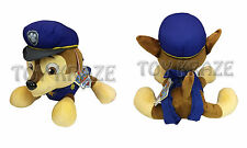 "PAW PATROL PLUSH BACKPACK! CHASE BLUE GERMAN SHEPARD SOFT DOLL PUPPY DOG 14"" NWT"