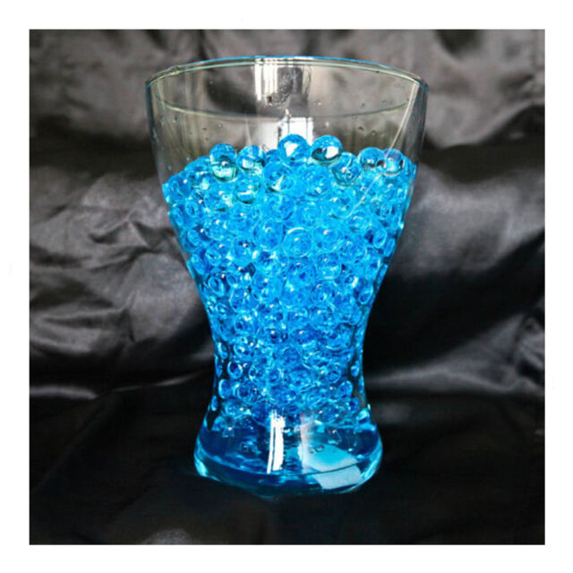 WATER AQUA CRYSTALS WEDDING VENUE PARTY TABLE DECOR CENTERPIECES DECORATIONS