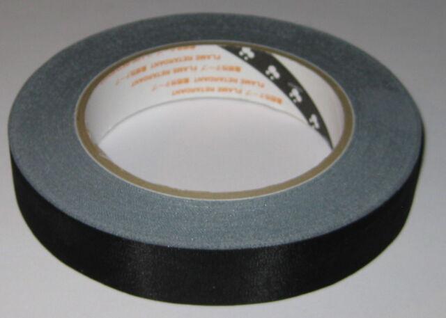 "Teraoka 570F Black Acetate Cloth Adhesive Tape - 3/4"" x 100 ft. - 20 mm x 30 m"