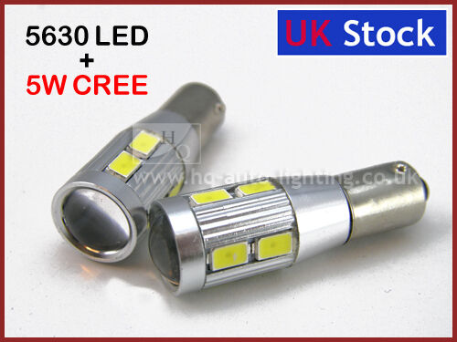CREE Q5 AUDI T4W 233 BA9s CAN BUS NEW NUMBER PLATE WHITE LED 8-SMD 5630
