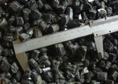 4.4LB Natural Black TOURMALINE Crystal Stones Original from Brazil