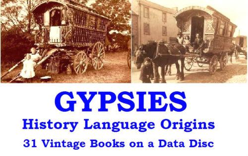 Gypsy Life Romany Language Gypsies Zincali Collection Vintage Books on Data Disc