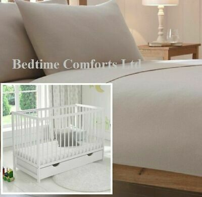 VARIOUS SIZES TRAVEL COT Luxury Soft FLANNELETTE FITTED Sheet CREAM COT BED