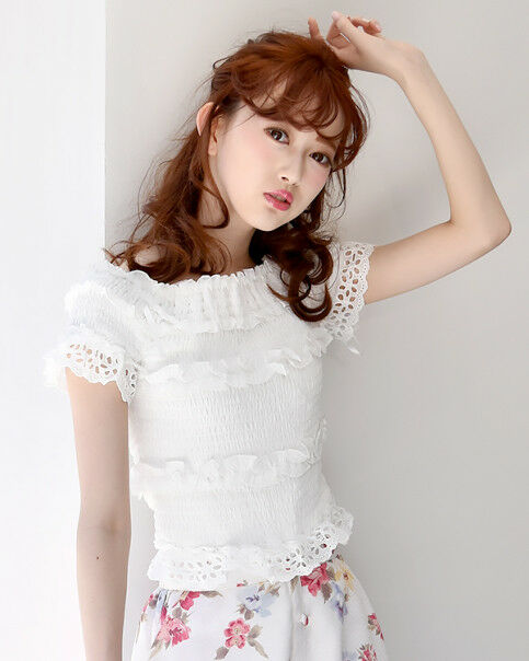 LIZ LISA - Frill shearings top ( Japan fashion lolita kawaii )