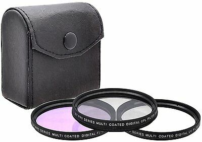 3-PC HD FILTER SET FOR SONY HDR-FX1000 HDR-FX1 UV C-PL FL-D