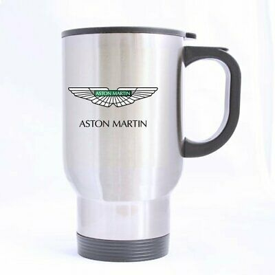 Aston Martin Car Flag A Fly In The Mirs Logo For Car Fans Travel Mug Ebay
