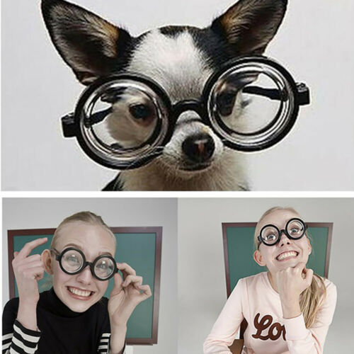 Kein Grad Gläser Falsche Myopie Dicke Gläser Plastik Materialien Spielzeug