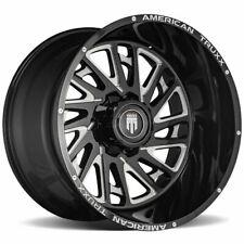 20x10 American Truxx At1905 Blade 8x658x1651 24 Black Milled Wheels Rims Set