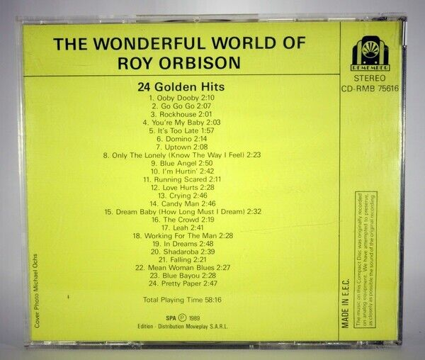 ROY ORBINSON: THE WONDERFUL WORLD OF, country