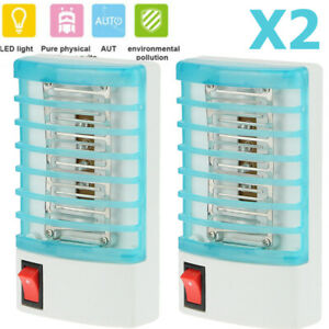 2X-Electric-LED-Mosquito-Fly-Bug-Insect-Trap-Zapper-Killer-Night-Light-Lamp-NEW