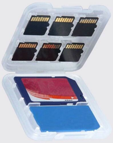 2 Hard CASE Hold 8 SD Memory Cards WATERPROOF Storage Protector Holder US SELLER