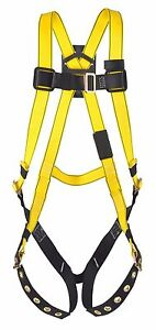 MSA 10072487 Vest Style Full-Body Harness with Tongue Buckle Legs (S-L)