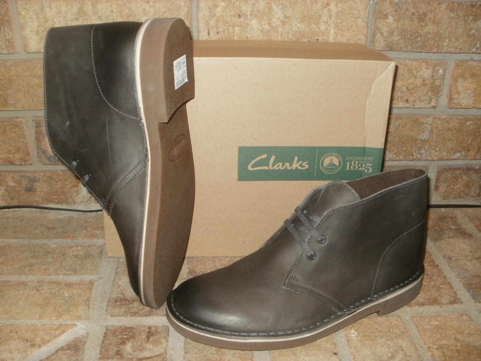 New Leder Clarks Bushacre 2 Gray Leder New Chukka Boot/ 100 dbffee