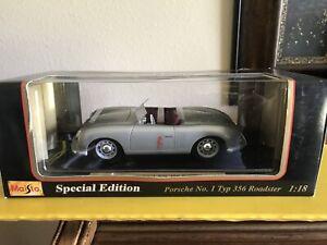 1948-Porsche-N-1-tipo-356-Roadster-1-18-Maisto-Nuevo-en-caja-de-edicion-especial