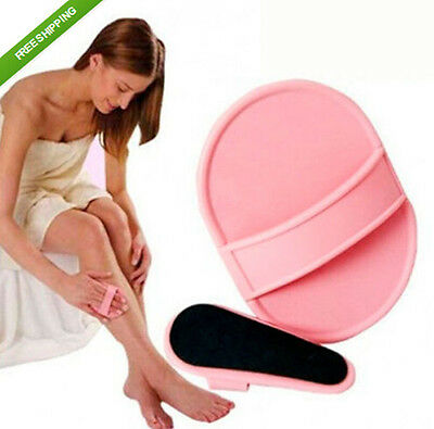 CE AU Smooth Away Legs Skin Pads Arm Face Hair Removal Remover  Exfoliator Set