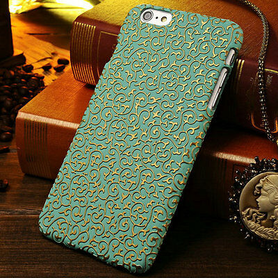 For iPhone 5s SE 6s Plus Case Hot Luxury Palace Flower Pattern Retro Back Cover