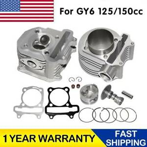 61mm-Big-Bore-180cc-Cylinder-amp-Head-Kit-Piston-For-GY6-125-150cc-Scooter-Engine