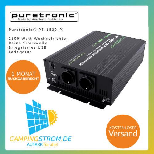 Puretronic ® pt-1500-pi 1500 W PUR SINUS Onduleur/Inverter avec USB