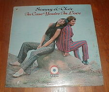 """SONNY & CHER 1967 """"In Case You're In Love"""" LP w The Beat Goes On MONO SEALED NM-"""