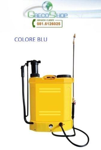 Pompa irroratrice manuale e a batteria ricaricabile 12V 18lt a spalla//zaino