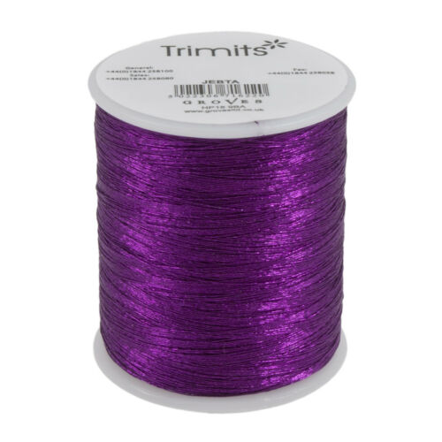 10x Embroidery Thread Metallic 180m Purple PK of 10 Sewing Craft Tool