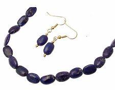 Lapis Lazuli Jewellery Blue Lapis Stone Lapis Lazuli necklace & Drop Earrings Se