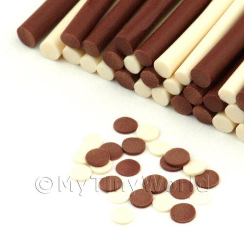 Leche y botones de chocolate blanco 3x para Arte en Uñas canes fnc13