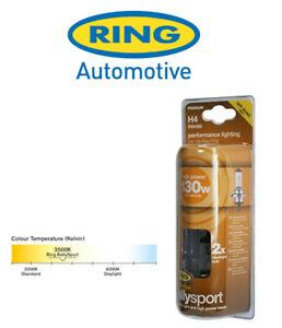 Ring - Rally Sport - 12v 130/90w H4 - Intense White - Upgrades - PAIR - RW490