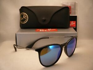 14ce56d8388a6 Ray Ban 4171 Erika Black w Blue Mirror Flash Lens NEW sunglasses ...