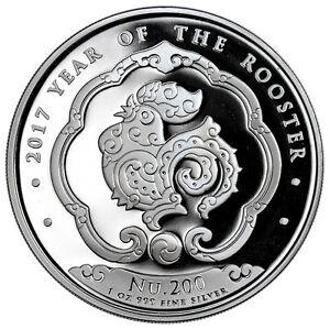 1-Ounce-Silver-Rooster-Lunar-II-2017-Bhutan-Rooster