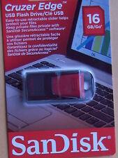 SanDisk Cruzer Edge USB 2.0 Flash Drive - 16 GB SDCZ51-016G