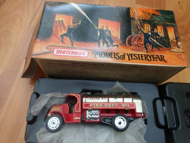 YFE11 MATCHBOX MODELS OF YESTERYEAR 1923 MACK AC WATER TANKER FIRE ENGINE