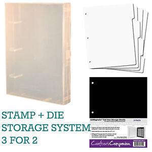 Image is loading EZMount-St&-Die-Storage-Binder-Box-Organiser-System-  sc 1 st  eBay & EZMount Stamp + Die Storage Binder Box Organiser System (Crafteru0027s ...