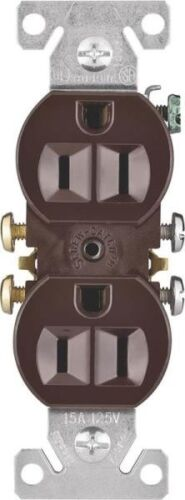 270B BROWN 15 AMP DUPLEX WALL RECEPTACLES 8627432 NEW COOPER USA CASE OF 10