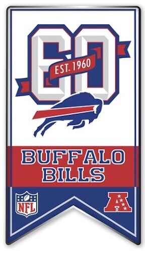 Buffalo Bills Schedule 2020.Details About Buffalo Bills 60th Anniversary Pin 1960 2019 Season Nfl Football Single Clasp