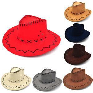 Chapeau-de-Cowboy-unisexe-a-ras-bord-WesternKnight-avec-cordon-feutre-fantai-I