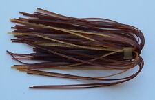 5 Custom Hand Made Silicone Spinnerbait//Jig Skirts- Texas Pumpkin -Bass Fishing