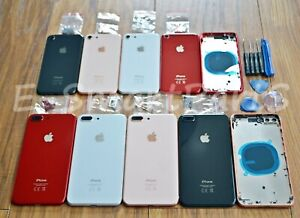 ALLOY-METAL-GLASS-BACK-CHASSIS-HOUSING-REPLACEMENT-FRAME-CASE-iPhone-8-amp-8-Plus