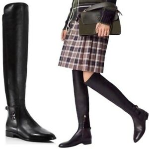 013aad42435 NIB  578 Tory Burch WYATT OVER-THE-KNEE BOOT Size 5 Black Leather ...