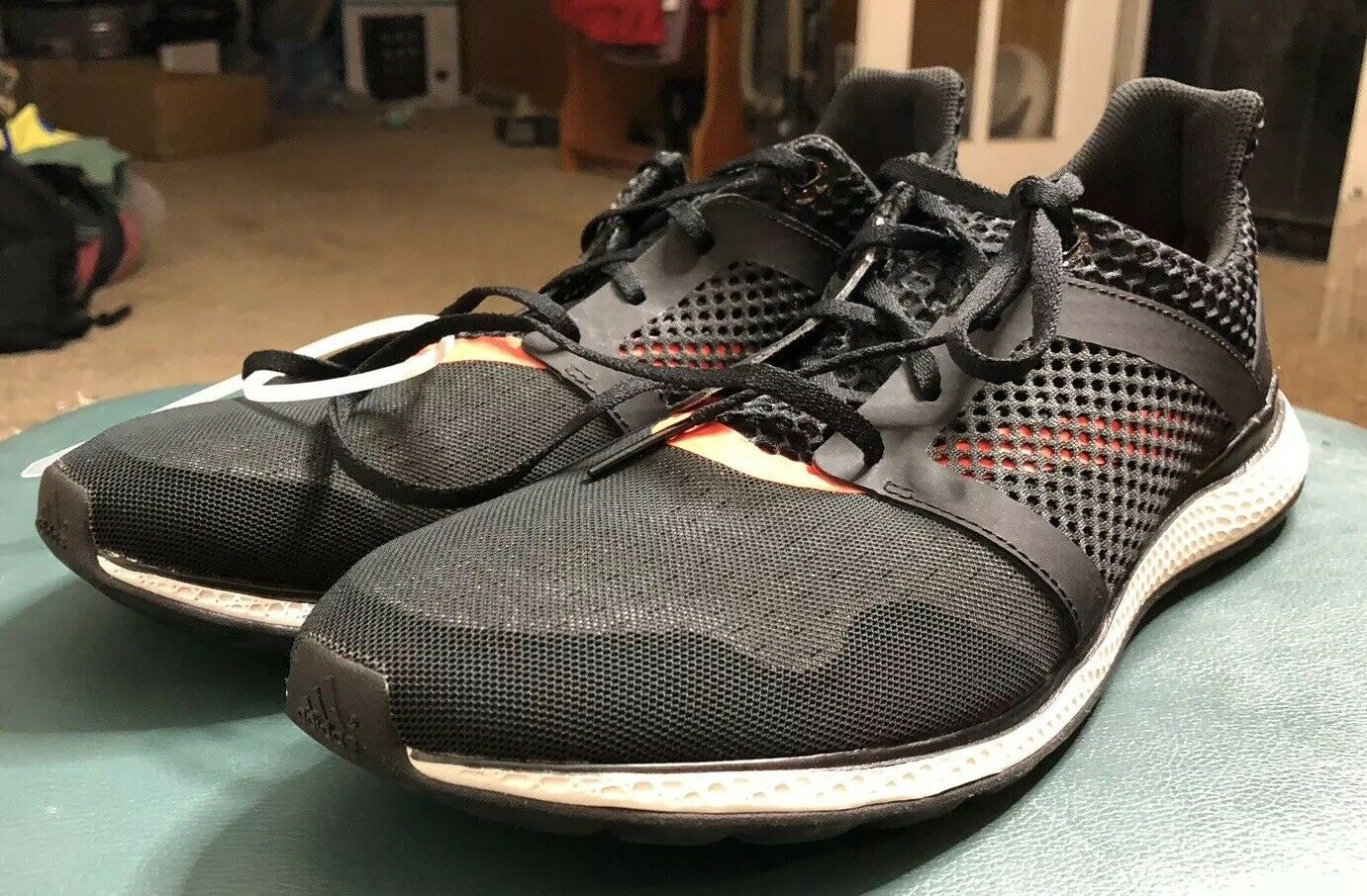 New Without Box Adidas Bounce Men's Size 12.5 Black orange 114864381