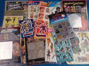 Vintage-1980s-90s-Pegatinas-E-T-el-hombre-un-equipo-musica-Pop-Star-Wars-Elige-Pack