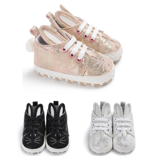 EG/_ Toddler Infant Kid Girl Cute Rabbit Ear Sneakers Faux Leather Baby Shoes Nov