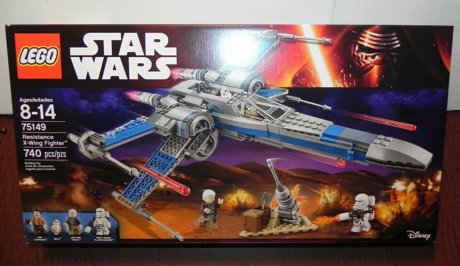 LEGO STAR WARS WARS WARS  75149 RESISTANCE X-WING FIGHTER - 740 pcs NEW  Free Shipping  47ff7f