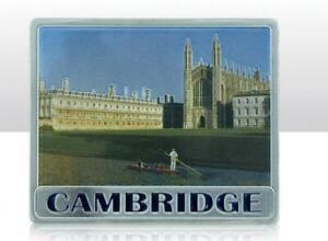 Cambridge Great Britain Metal Souvenir Magnet 7 CM, New