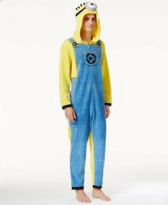 8819292fa82b  160 BRIEFLY STATED Mens PAJAMAS YELLOW MINION ONE-PIECE SOFT LOUNGE ...